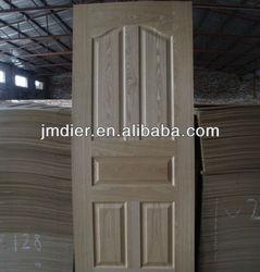 ash/oak/teak/beech moulded HDF wood door skin