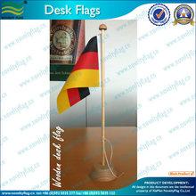 wooden pole desk flag for conference