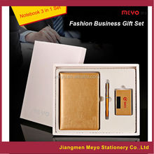 Pu leather card holder sets business gift notebook sets corporate gift pen sets
