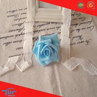 Wholesale Fancy Scallop White Jacquard Mesh Stretch Ribbon Elastic