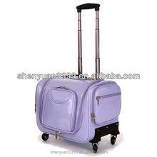Purple professional Large multi-layer cosmetics trolley luggage female universal wheels travel bag car storage box