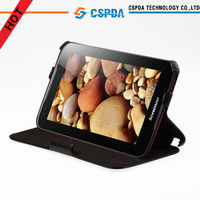 Heat Setting Leather Stand Case Cover For Lenovo Idea Tab A1000 7'' tablet