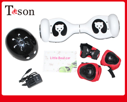 Mini hand free 2 wheel electric scooter motorcycle bicycle scooter for kids with helmet and pads