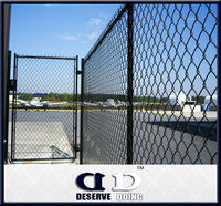 DD Steel Chain Link Mesh Fence And Front Gate Design