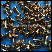 Cu copper hollow bimetal Contact rivet point for relay and switch