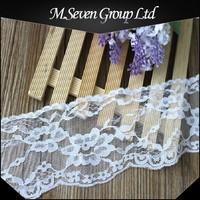 Wholesale evening dress white lace trim, ladies neck design lace trim wholesale, latest lace for ladies office wear designs