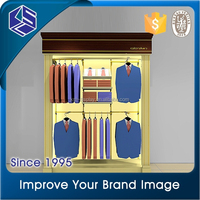 2015 new innovative product T-shirt clothes shop open modern led display cabinets