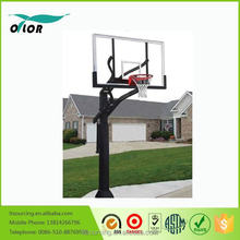 """Adjustable in ground basketball stand with 72"""" backboard"""
