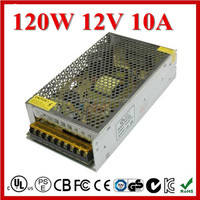Constant Voltage Single Output 12V 10A AC DC Power Supply with CE ROHS Certification