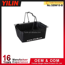 double handle metal small shopping baskets
