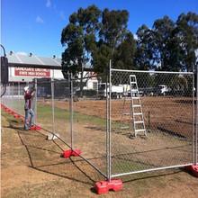 Modular Portable temporary construction chain link fence/ Temporary Barrier chain link fence/interlocking bar barricade