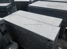 Chinese G603 Sesame White granite for stair, own quarry and block