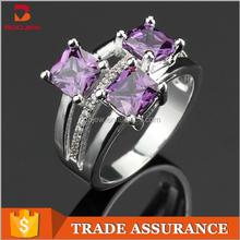 Wholesale beautiful women wedding rings 925 silver women aaa cz ring finger ring set
