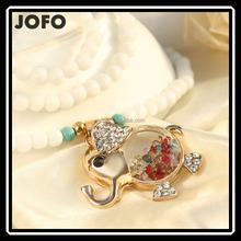 Equisite Crystal & Opal Animal-shaped Elepant Pendant Necklace Yiwu Jewelry