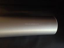 Gray 3D Carbon Fiber Vinyl Wrap Car Sticke with bubble free 1.52*30m