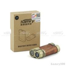 2015 electronic cigarette wood box mod kamry 100 super vapor mod voltage /wattage adjustable ecig mod USA distributor wanted