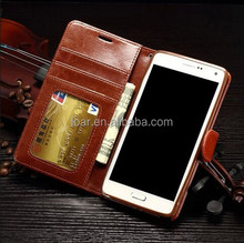 Black Brown For Samsung Galaxy Note 4 Leather Cellphone Case