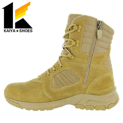 Army Combact Boots cow split Suede leather wedge Suede Ankle Boots