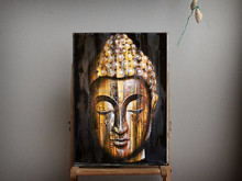 Unique Design High Quality Buddha Head Portrait Oil Paintings On Canvas High Quality India Bali Oil Painting BIG SALE