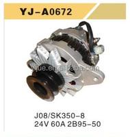 24V 60A 2B95-50 J08 KOBELCO SK350-8 OEM Alternator/motor for Excavator Made in china Wholesalar/Supplier cheapest