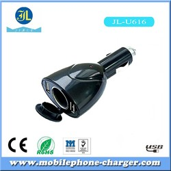 2015 New bullet design usb vehicle charger for mobile phone accessories factory from china