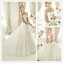 Wholesale 2012 Vintage Wedding Gown Mini Scoop Full A Line Tulle Skirt Sales on Alibaba Wedding Dress With Nice Lace Applique