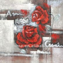 High quality flower oil painting on canvas of abstract canvas art