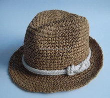 Fashion Straw Fedora hat