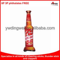 inflatable Cheering Stick, custom beer bottle shape cheering stick