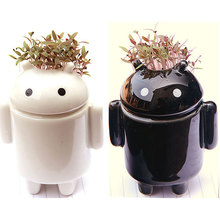 Hot sell Office & home Mini green landscape grass head doll decoration grass artificial small potted plant