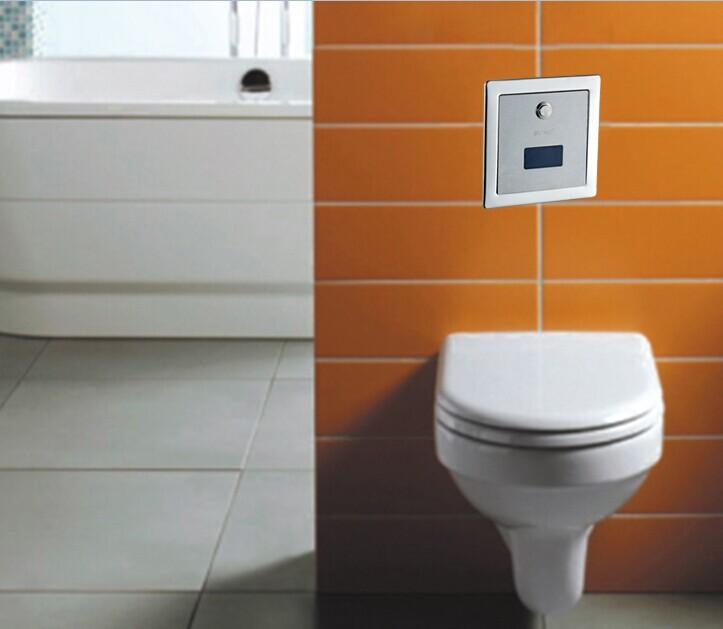 sans contact wc automatique valve de chasse capteur pour toilettes et squat pan avec push button. Black Bedroom Furniture Sets. Home Design Ideas