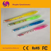 UV light pen/ ballpoint pen with UV light invisible ink pen