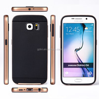 Unique Hot selling New style thin hard PC+TPU Hybrid phone case New design smart slim tough TPU cover case for Samsung Galaxy S6