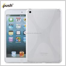 X Shape Pattern TPU Gel Skin Slim Back Cover Case for Apple iPad min 4
