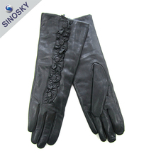 Hot selling wholesale best quality warm chrome leather gloves