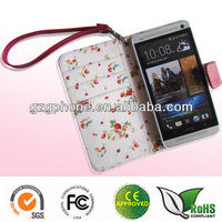 Colorful HTC One M7 case,htc one leather case,for m7 wallet case