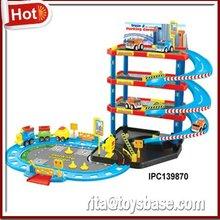 Cartoon parking lot building toys for boys