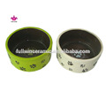 caliente la venta de la fábrica del oem de fabricación de arte decoración de cerámica perro tazones de las mascotas