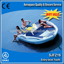 SANJ 2013 new model fiberglass jet boat SJFZ16 with high quality at best price