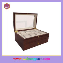branded watch box, mens wooden watch display box