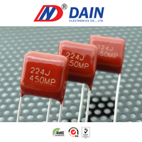 High quality and low price MPF type 225j 250v metallized polypropylene film capacitor