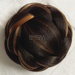 fashion hair accessory synthetic clip hair bun pieces