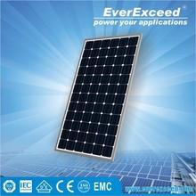 EverExceed 230w 156*156 Monocrystalline Solar Panel with TUV/VDE/CE/IEC Certificates