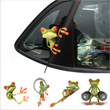 3D Frog Funny Car Stickers Truck Window Decal Graphics Sticker