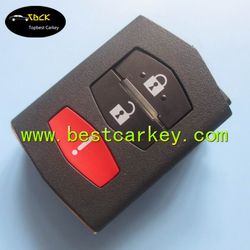 New Model 2+1 buttons car remote key part shell for mazda 3 key for mazda key case