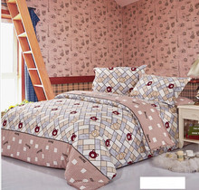 Luxury Reactive Printed 4Pcs bedding sets,include Quilt Cover Bed sheet Pillowcase