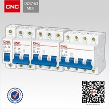 CNC brand manufacturer 3 phase 380v 4 pole 4 amp 32 amp 63 amp mcb electric c45n mini circuit breaker switch b c d curve prices
