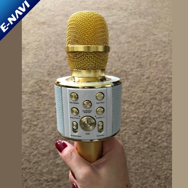 Alta qualidade Interior Orador Handheld Karaoke <span class=keywords><strong>Microfone</strong></span> Sem Fio Uso no Clube, partido, bolsa de viagem, carro etc