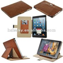 Noble Brown Premium Leather Case Cover Stand Card Slots For iPad Mini New