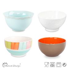 Atacado de sopa cerâmica/cereais/saladeiras conjunto, branco porcelana tigelas de arroz, todos os tipos de faiança